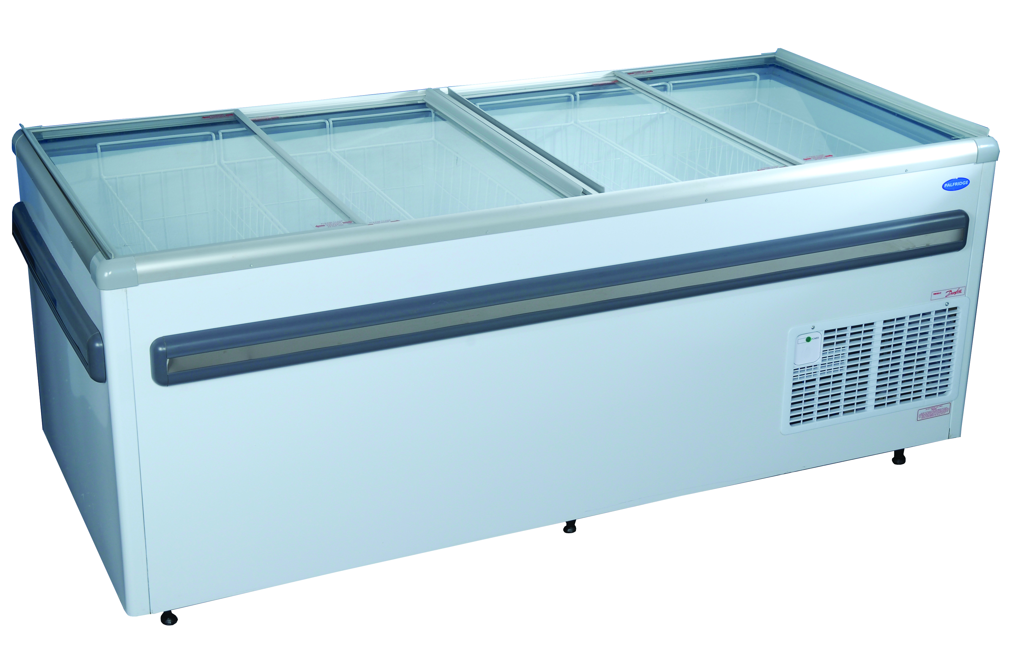 Fridge Star820lt Glass Top Island Freezer Direct Cooling