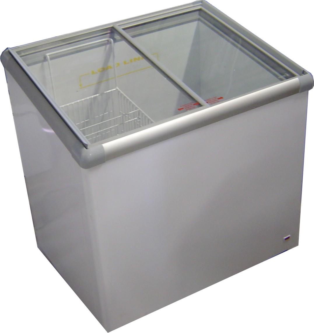 Fridge Star Model Vi202 L Glass Top Ice Cream Freezer