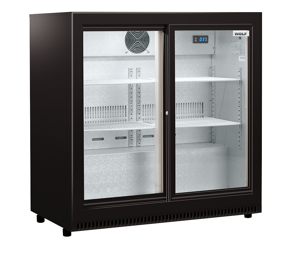 Wolf 2 Door Sliding Bar Fridge Direct Cooling