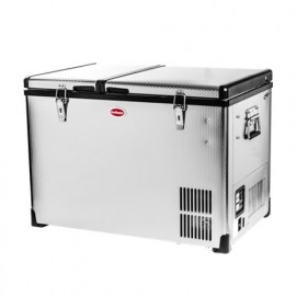 SMDZ-CL56D 60lt Stainless Steel Portable Fridge and Freezer  (Dual Compartment) 12/220v