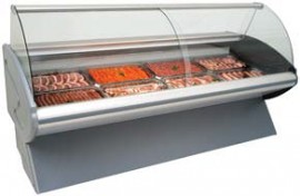 CG1830MC/AE 1.8m Curved Glass Meat Chiller