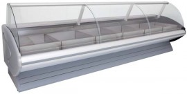CG2440MC/AE 2.4m Curved Glass Meat Chiller