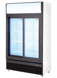 DC800SD 800lt Double Door Sliding Beverage Cooler With Temperature Display