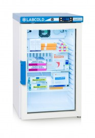 RLDG0219 66lt Glass Door Pharmacy Fridge with a Touch screen IntelliCold® Controller