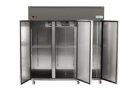 3 Door Stainless Steel Reach In Fridge Direct Cooling