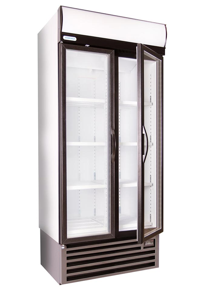 Staycold Double Door Beverage Cooler With Temperature
