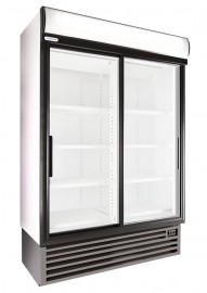 SD1360 903lt Double Sliding Door Beverage Cooler with Temperature Display