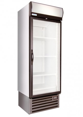 HD690F 422lt Single Glass Door Freezer with Temperature Display