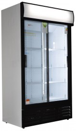 ES1140SL 663lt Slim Line Double Sliding Door Beverage Cooler