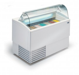 ISETTA 7R LX TP Curved Glass Ice-cream Freezer