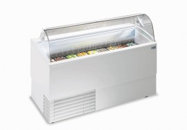 ISETTA 9R TP LX Curved Glass Ice-cream Scoop Freezer
