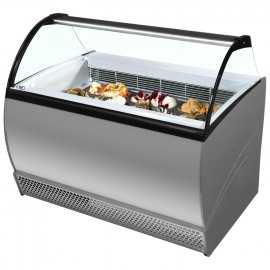 ISABELLA 10R LX Curved Glass Ice-cream Scoop Freezer